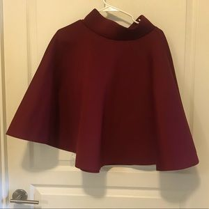 "Burgundy ""poodle"" skirt"